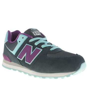 New Balance Teal & Purple 574 Girls Youth