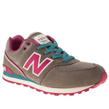 Youth Grey New Balance 574 Stadium