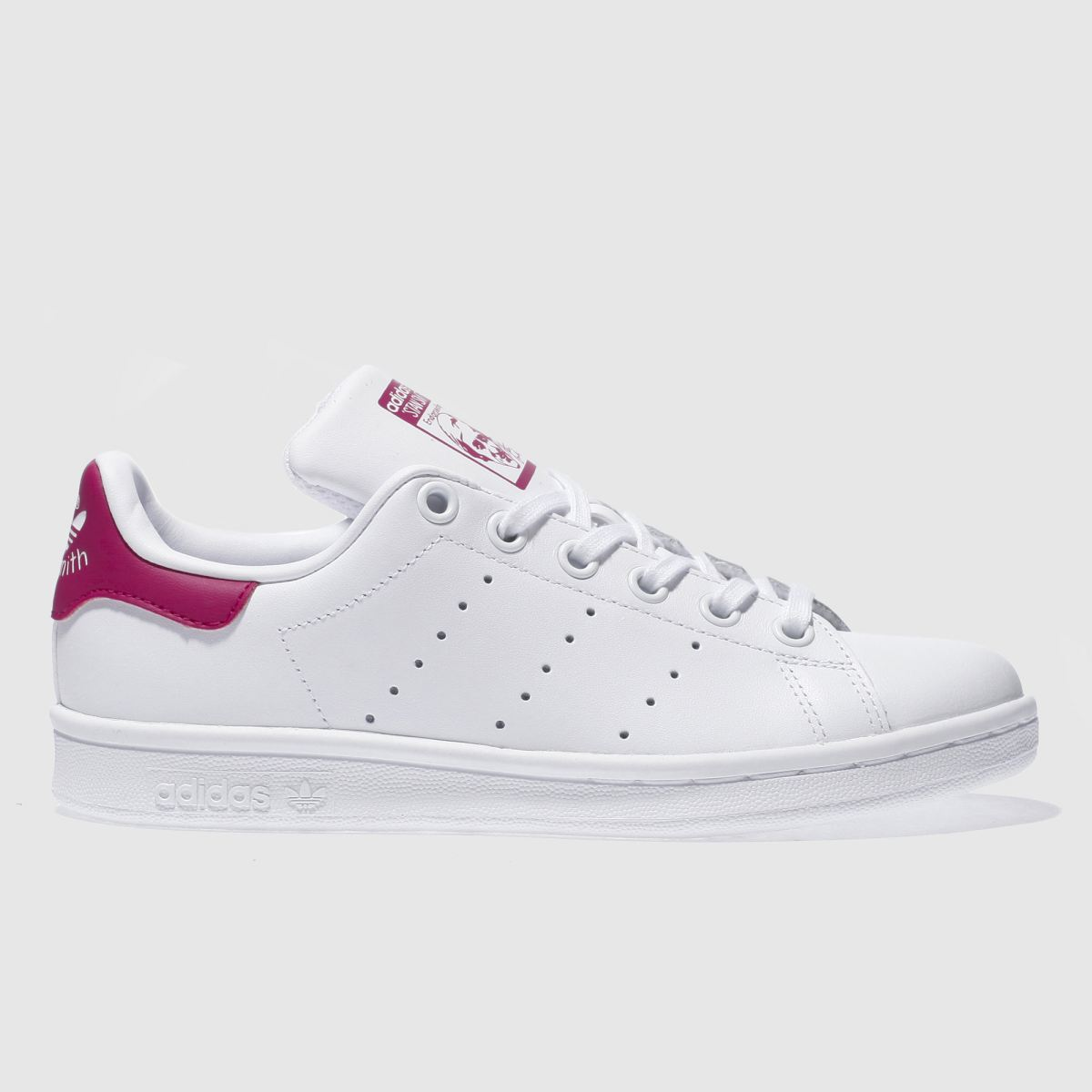 adidas white & pink stan smith Girls Youth Trainers