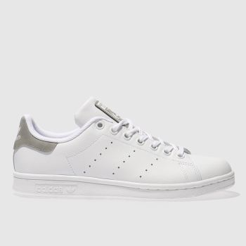 Adidas White & grey STAN SMITH Girls Youth