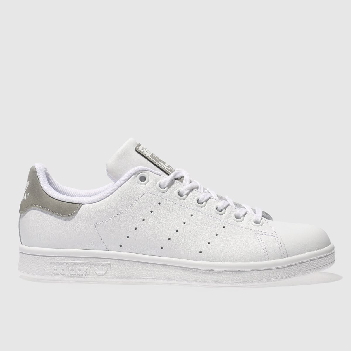 adidas white & grey stan smith Girls Youth Trainers