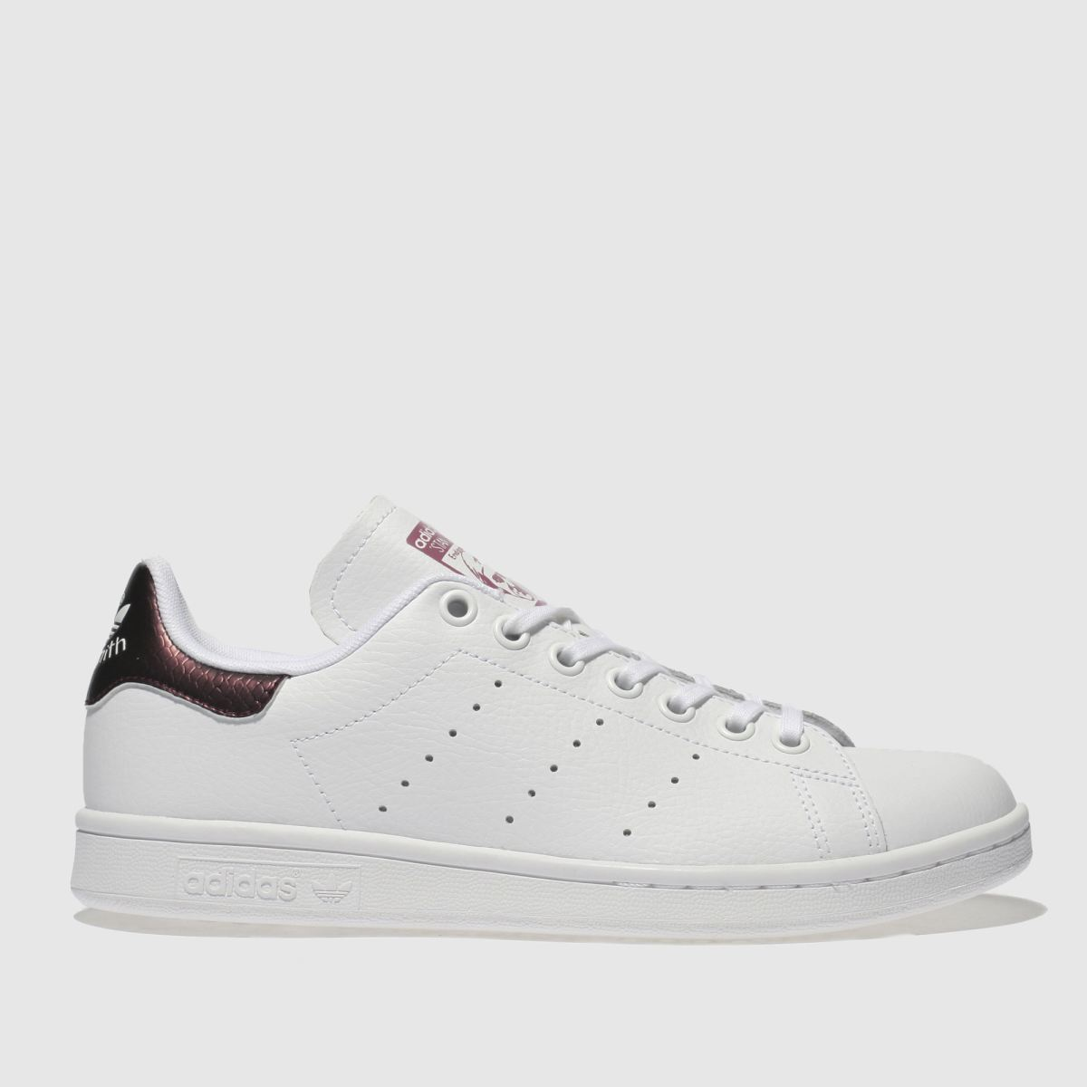 Adidas White & Purple Stan Smith Trainers Youth