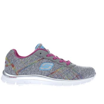 SKECHERS GREY SKECH APPEAL ELECTRIC GIRLS YOUTH TRAINERS