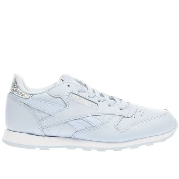 Reebok Blue Classic Leather Pastel Girls Youth