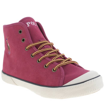 Polo Ralph Lauren Pink Chaz Mid Girls Youth