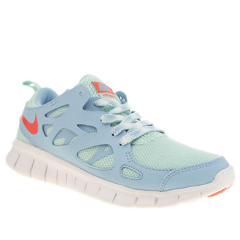 Girls Nike Pale Blue Free Run 2 Girls Youth