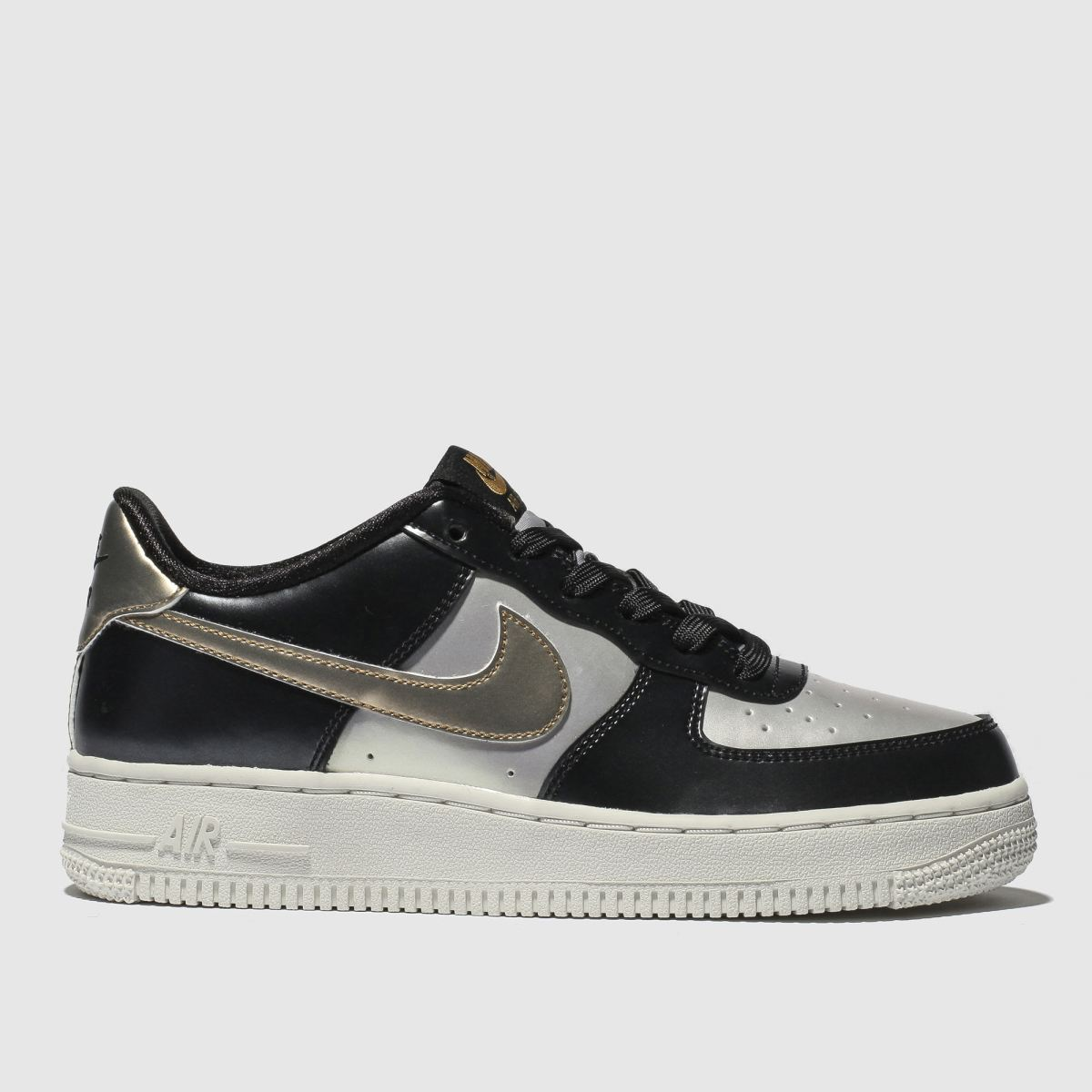 Nike Silver & Black Air Force 1 Lv8 Trainers Youth