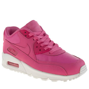 Girls Nike Pink Air Max 90 Girls Youth