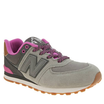 New Balance Grey 574 New England Girls Youth