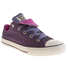 Youth Purple Converse All Star Double Tongue