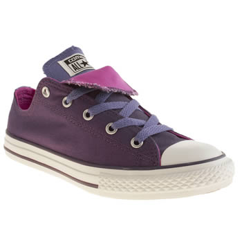 Converse Purple All Star Double Tongue Girls Youth
