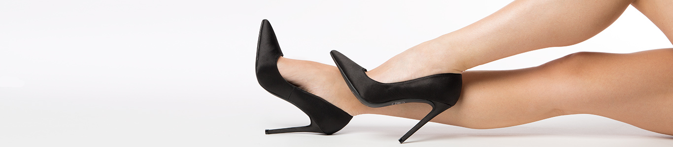 shop womens black high heels from schuh with brands like Missguided & more