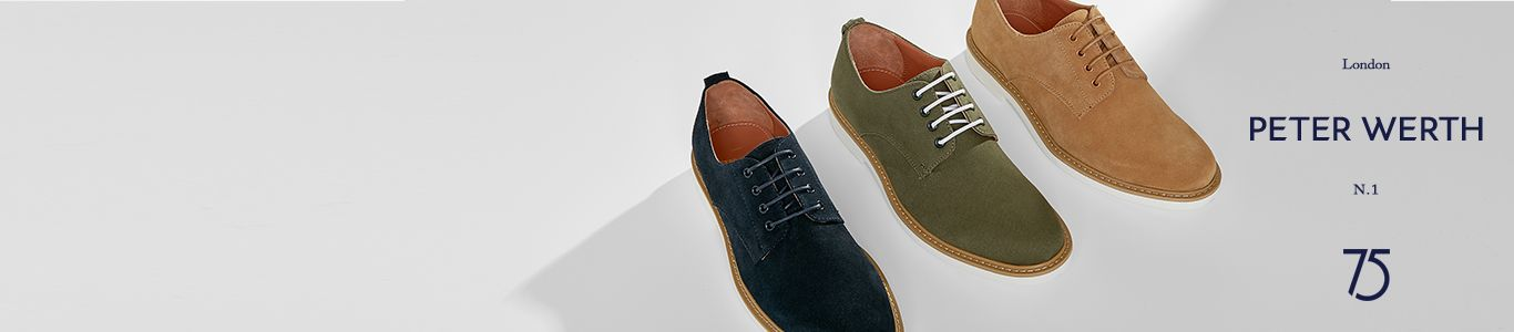 shop all mens Peter Werth shoes, brogues and more at schuh