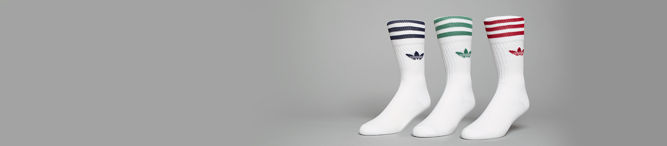 shop our range of socks at schuh including adidas solid crew socks