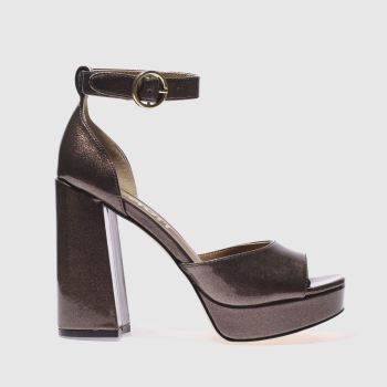 Schuh Bronze Party Trick Damen High Heels