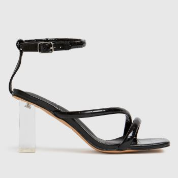 schuh Black Shelly Clear Heel Womens High Heels