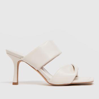 schuh White Sierra Padded Mule Womens High Heels