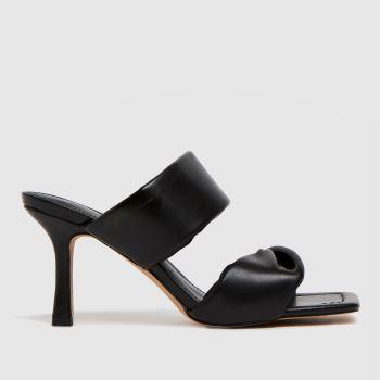 schuh Black Sierra Padded Mule Womens High Heels