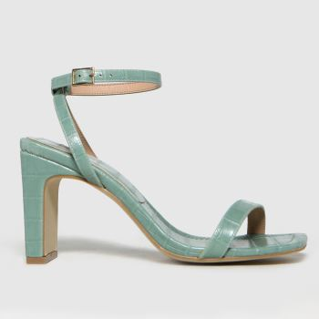 schuh Green Suzie Croc Two Part Sandal Womens High Heels