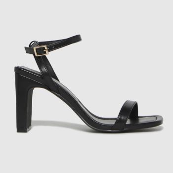 schuh Black Suzie Two Part Sandal Womens High Heels