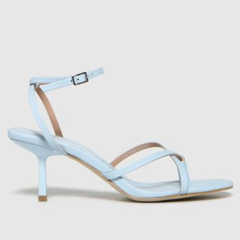 schuh Pale Blue Sapphire Croc Strappy Sandal Womens High Heels