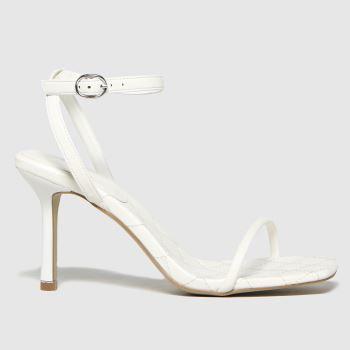 schuh White Shea Two Part Sandal Womens High Heels
