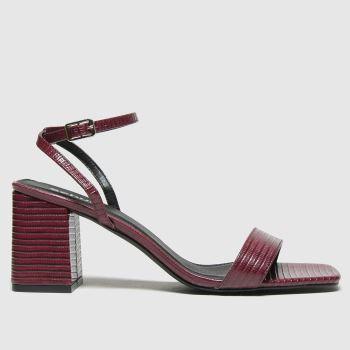 schuh Burgundy Sienna Block Heel Sandal Womens High Heels