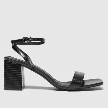 schuh Black Sienna Block Heel Sandal High Heels