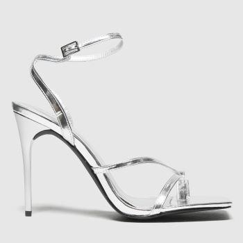 schuh Silver Seren Heeled Sandal Womens High Heels