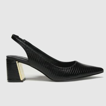 schuh Black Sasha Pointed Slingback Womens High Heels#