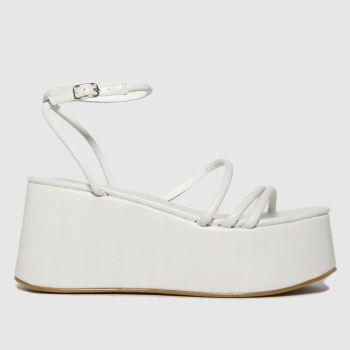 schuh White Sabrina Flatform Strappy Womens High Heels