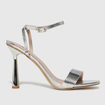 schuh Silver Skylar Two Part Womens High Heels