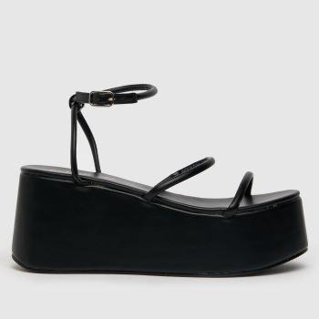 schuh Black Scarlet Flatform Strapy Sandal Womens High Heels