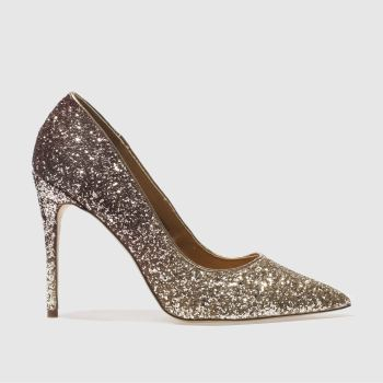 Schuh Gold Flirty Damen High Heels