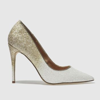 Schuh White & Gold Flirty Womens High Heels