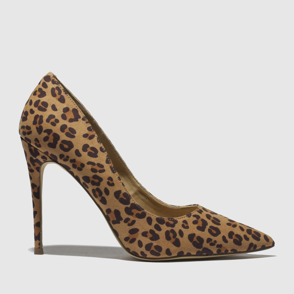 Schuh Brown & Tan Flirty High Heels