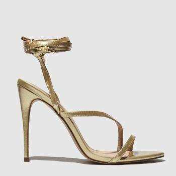 schuh gold chantal high heels