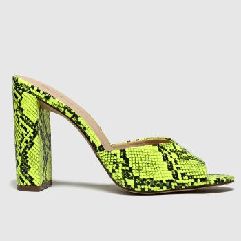 Schuh Yellow In The Know Womens High Heels