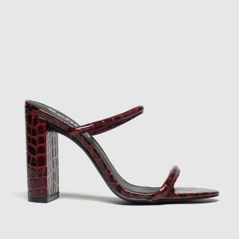 Schuh Burgundy Uptown Womens High Heels