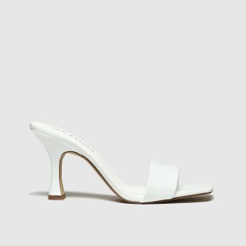 Schuh White Ecstatic Womens High Heels