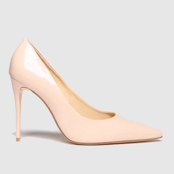 schuh Natural Stacey Nude Patent Point High Heels