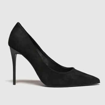 schuh Black Stacey Black Point Womens High Heels