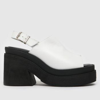 schuh White The Edit Sardinia Chunky Womens High Heels