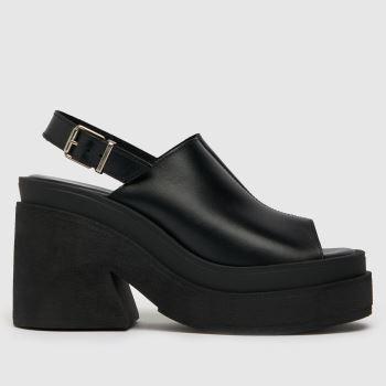 schuh Black The Edit Sardinia Chunky Womens High Heels