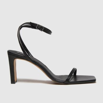 schuh Black Siobhan Two Part Womens Sandals