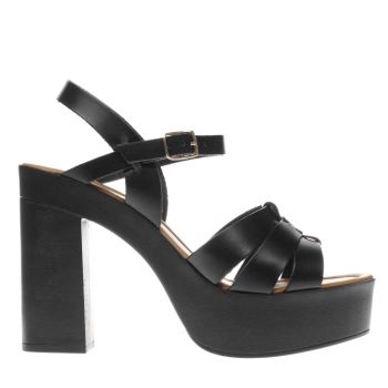 Schuh Black Boston Womens High Heels