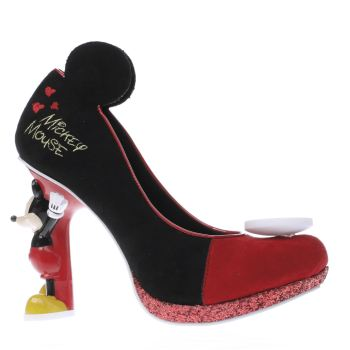 Irregular Choice Black X Disney Mickey Mouse Womens High Heels