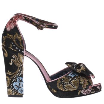 Irregular Choice Black Flaming June Floral Womens High Heels