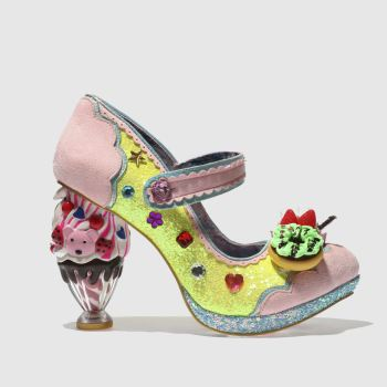 Irregular Choice Yellow & Pink Ice & A Slice Womens High Heels