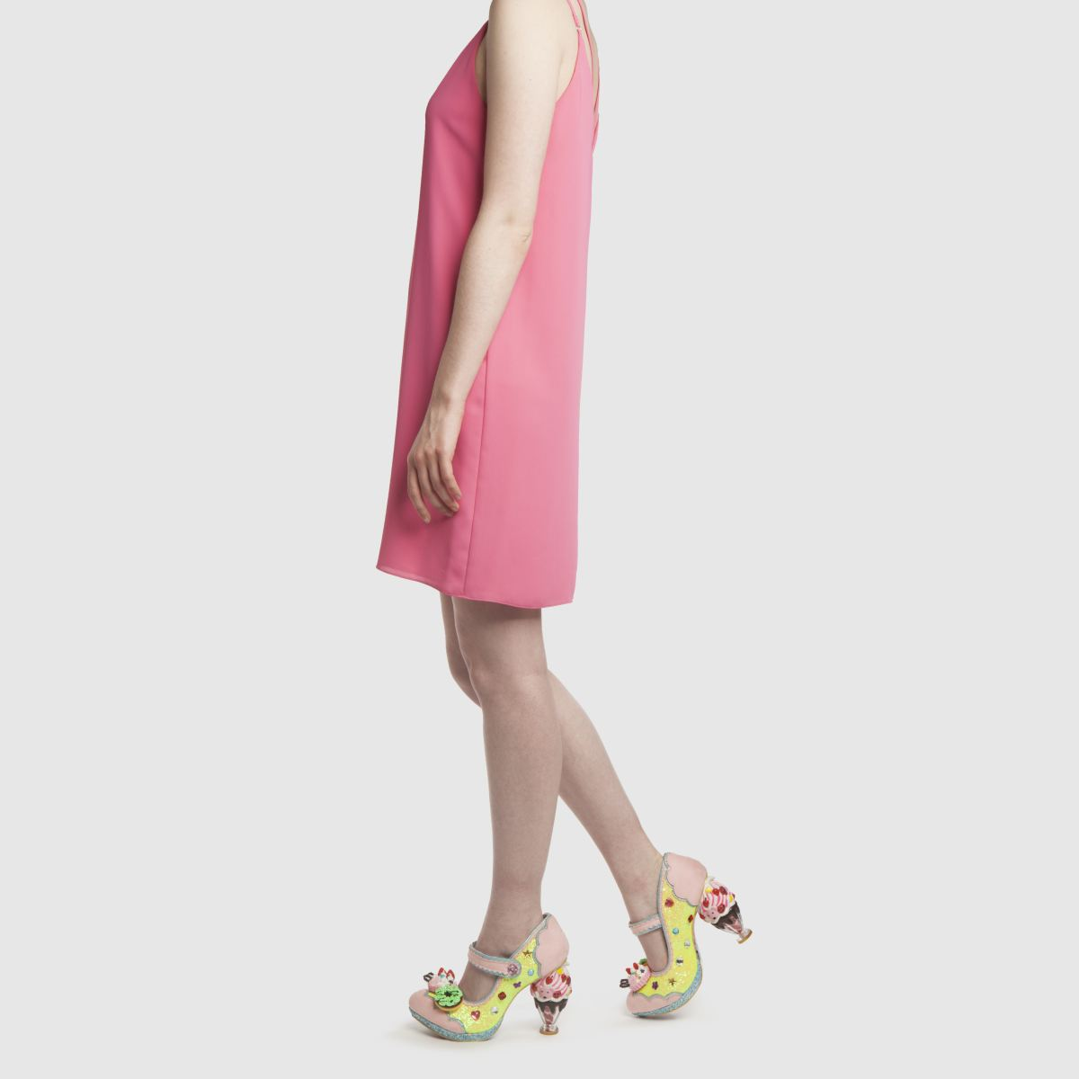 Damen Gelb-pink irregular choice Ice & A Slice High Heels | schuh Gute Qualität beliebte Schuhe